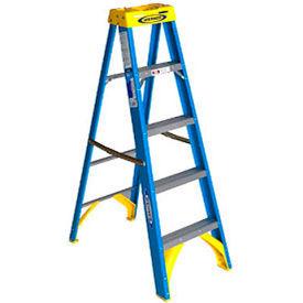 Werner 5' Fiberglass Step Ladder w/ Plastic Tool Tray - 6005