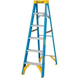 Werner 6' Fiberglass Step Ladder w/ Plastic Tool Tray 250 lb. Cap - 6006