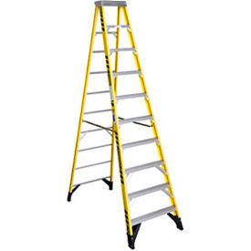 Werner 10' Fiberglass Step Ladder w/ Plastic Tool Tray 375 lb. Cap - 7310