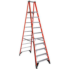 Werner 10' Fiberglass Platform Step Ladder 300 lb. Cap - P7410
