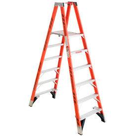 Werner 6' Dual Access Fiberglass Platform Ladder - PT7406