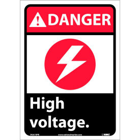 "Graphic Signs - Danger High Voltage - Vinyl 10""W X 14""H"