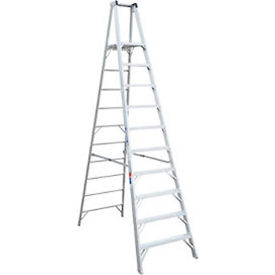 Werner 10' Type 1AA Aluminum Platform Ladder - P410