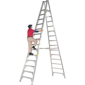 Werner 14' Type 1AA Aluminum Platform Ladder - P414