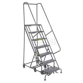 7 Step Steel Easy Turn Rolling Ladder - Standard Angle