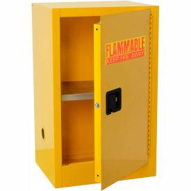 Global&#8482 Compact Flammable Storage Cabinet 16 Gallon Capacity 1 Shelf