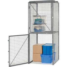 Bulk Storage Locker Double Tier 4' X 4' Starter Without Roof