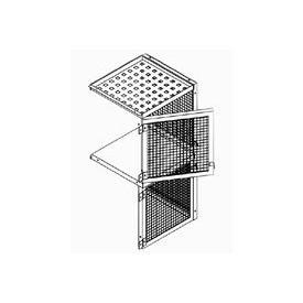 Bulk Storage Locker Double Tier 4' X 5' Add-On With Roof