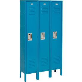 Infinity™ Locker Single Tier 12x18x72 3 Door Assembled Blue