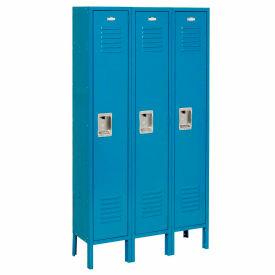 Infinity™ Locker Single Tier 15x18x72 3 Door Assembled Blue