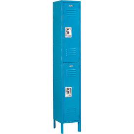 Infinity™ Locker Double Tier 12x15x36 2 Door Assembled Blue