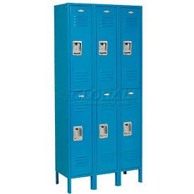 Infinity™ Locker Double Tier 3 Wide 12x18x36 Assembled Blue