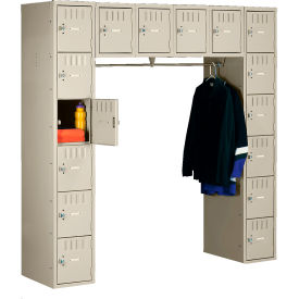 Steel Locker 16 Person 72x18x72 Without Legs 16 Doors Ready To Assemble Sand