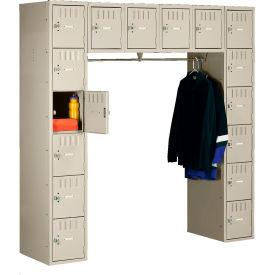 Tennsco Box Locker SRK-721872-A 214 - 16 Person w/o Legs 12x18x12 Unassembled, Sand