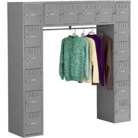 Tennsco Steel Locker SRS-721872-A 02 - 16 Person w/o Legs 12x18x12 Assembled Medium Grey