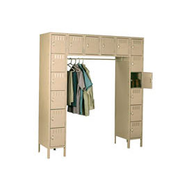 Tennsco Steel Locker SRS-721878-1 214 - 16 Person w/Legs 12x18x12 Assembled Sand