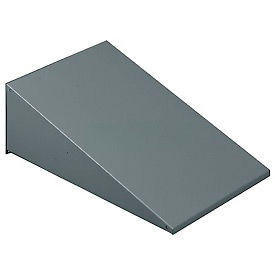 "Tennsco Sloping Locker Top KST-1215-MGY - For 1 Wide Locker 12""W X 15""D Medium Grey"