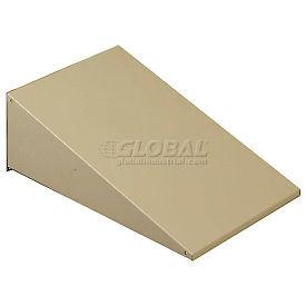"Tennsco Sloping Locker Top KST-3615-SND - For 3 Wide Locker 36""W X 15""D Sand"