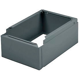 "Tennsco Closed Locker Base CLB-1215-MGY - For 12""W X 15""D Locker No Legs 1 Wide, Medium Grey"