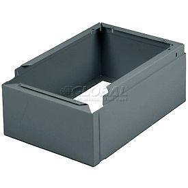 "Tennsco Closed Locker Base CLB1-218 02 - For 12""W X 18""D Locker No Legs 1 Wide, Medium Grey"