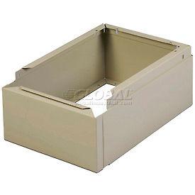 "Tennsco Closed Locker Base CLB-1218 214 - For 12""W X 18""D Locker No Legs 1 Wide, Sand"