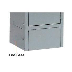 "Tennsco Steel Locker End Base EB-15-MGY - For 15""D Locker With 6""H Legs Medium Gray"