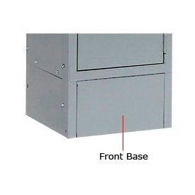 "Tennsco Steel Locker Front Base FB-12-MGY - For Lockers With 6""H Legs Medium Grey"