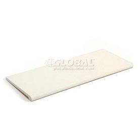 Slatwall Shelf  48x15 White Plastic With Round Edge - Pkg Qty 4