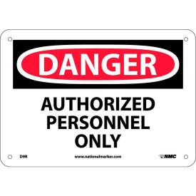 "Safety Signs - Danger Authorized Personnel Only - Rigid Plastic 7""H X 10""W"