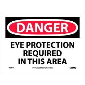 "Safety Signs - Danger Eye Protection - Vinyl 7""H X 10""W"