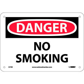 "Safety Signs - Danger No Smoking - Rigid Plastic 7""H X 10""W"