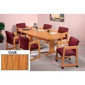 8-Sided 36x72 Table Oak Finish