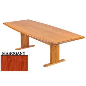 Conference Table 72 Inch Boat Shaped Mahogany Finish