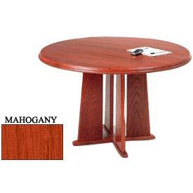 Lesro 1 x 42 Inch Round Table Mahogany Finish