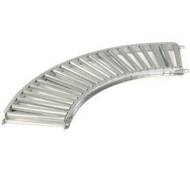 "Omni 1-3/8"" Dia. Aluminum Roller Conveyor Curved Section RAHC1.4-12-3-90"