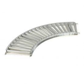 "Omni Metalcraft 1.9"" Dia. Steel Roller Conveyor Curved Section GPHC1.9X16-18-3-90"