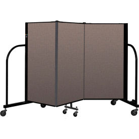 "Screenflex Portable Room Divider 3 Panel, 4'H x 5'9""L, Fabric Color: Oatmeal"