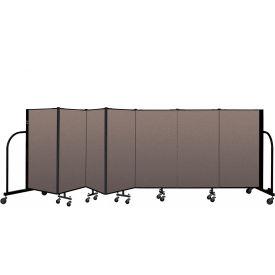 "Screenflex Portable Room Divider 7 Panel, 4'H x 13'1""L, Fabric Color: Oatmeal"