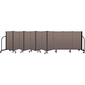 "Screenflex Portable Room Divider 11 Panel, 4'H x 20'5""L, Fabric Color: Oatmeal"