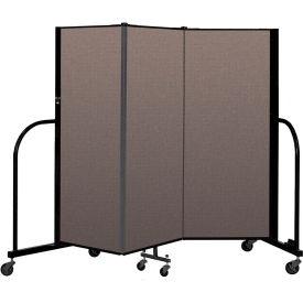"Screenflex Portable Room Divider 3 Panel, 5'H x 5'9""L, Fabric Color: Oatmeal"