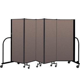 "Screenflex Portable Room Divider 5 Panel, 5'H x 9'5""L, Fabric Color: Oatmeal"