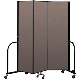 "Screenflex Portable Room Divider 3 Panel, 6'8""H x 5'9""L, Fabric Color: Oatmeal"