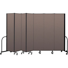 "Screenflex Portable Room Divider 7 Panel, 7'4""H x 13'1""L, Fabric Color: Oatmeal"