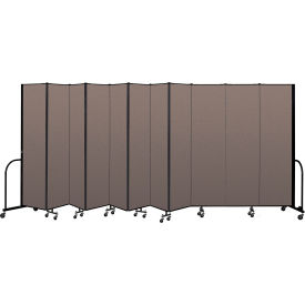 "Screenflex Portable Room Divider 11 Panel, 7'4""H x 20'5""L, Fabric Color: Oatmeal"