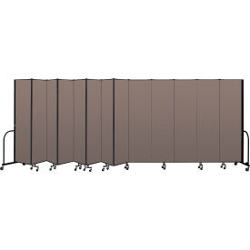 "Screenflex Portable Room Divider 13 Panel, 7'4""H x 24'1""L, Fabric Color: Oatmeal"