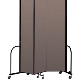 "Screenflex Portable Room Divider 3 Panel, 8'H x 5'9""L, Fabric Color: Oatmeal"