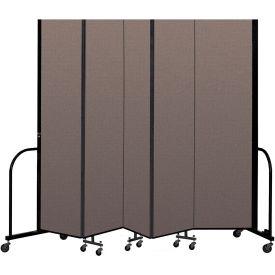 "Screenflex Portable Room Divider 5 Panel, 8'H x 9'5""L, Fabric Color: Oatmeal"