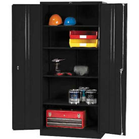 Paramount® Storage Cabinet Easy Assembly 36X18X78 Black