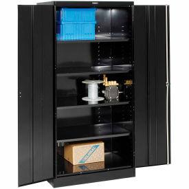 Tennsco Industrial Storage Cabinet 2470-BLK - 36x24x78 Black
