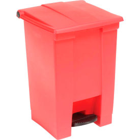 12 Gallon Rubbermaid Plastic Step On Trash Can - Red